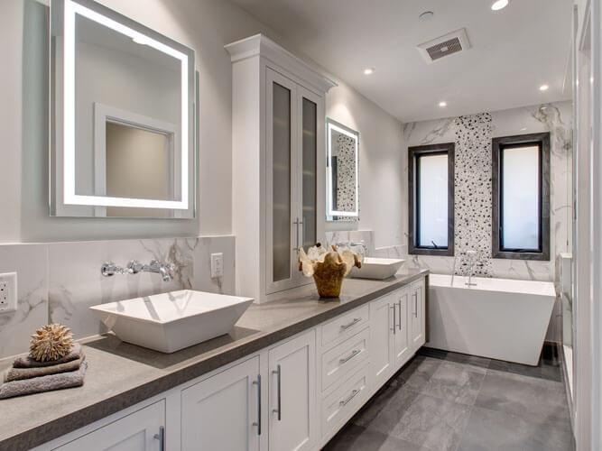 Custom Bathroom Cabinets And Vanities In Orange County Cabinets Plus
